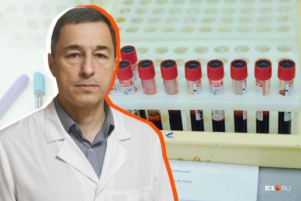Бегун Александр Казанцев решил пройти скрининговые обследования после того, как побывал на лекции врача Александра Гальперина (на фото)