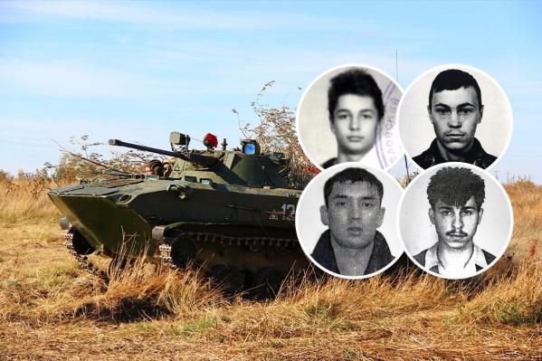 Верхний ряд: Аркадий Белоногов, Евгений Южанин<br>Нижний ряд: Нуркали Габдулинов, Геннадий Кирша