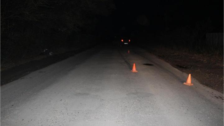 В Кургане водитель не заметил пешехода, который шёл в темноте по проезжей части