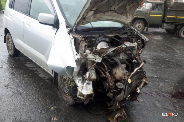 В аварии пострадали четыре человека