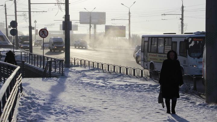 Омские синоптики спрогнозировали морозную рабочую неделю