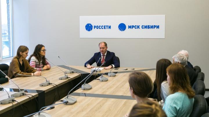 Генеральный директор МРСК Сибири поделился со студентами секретами энергетиков