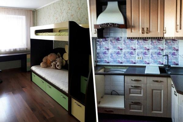 В квартире есть основная мебель и сделан свежий ремонт