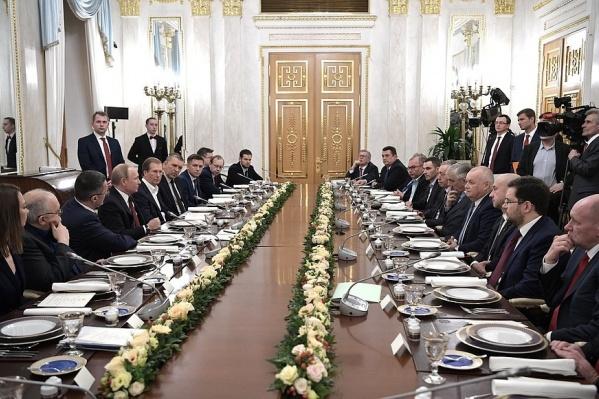 Руководители ведущих российских СМИ встретились с президентом в среду вечером