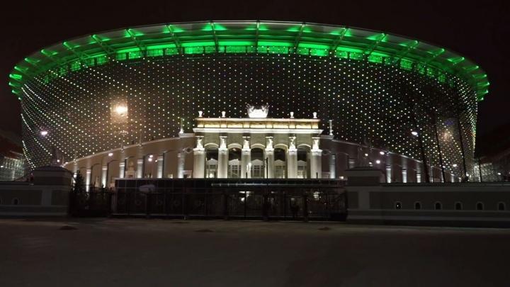 Вот она какая: на Центральном стадионе включили финальный вариант подсветки
