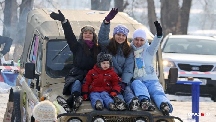 Зимние автогонки, театр роботов и снежные покатушки: как провести в Уфе выходные