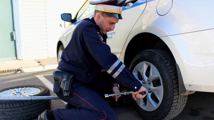 Красноярцам посоветовали переобуть автомобили перед выездом за город