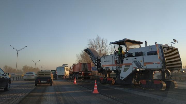 Здравствуйте, пробки, мы скучали: на трассе Уфа — аэропорт начали снимать асфальт