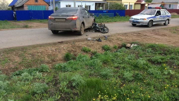 Уфимка за рулем Toyota сбила мальчика на мопеде