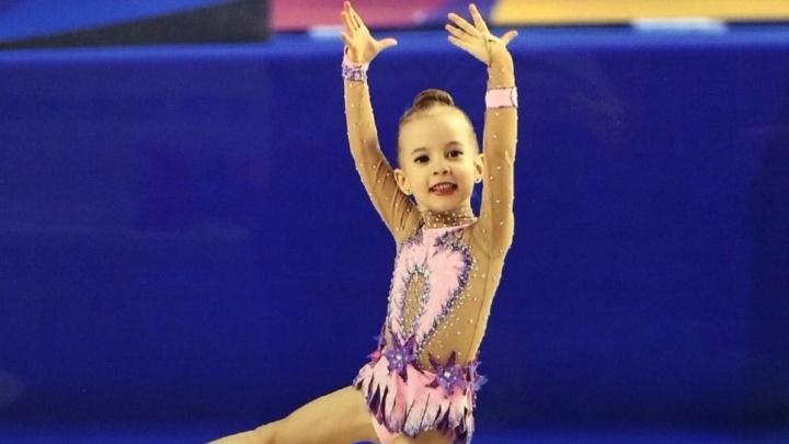 Екатеринбургская гимнастка, которой исполнилось всего четыре года, завоевала золото на турнире в Казани