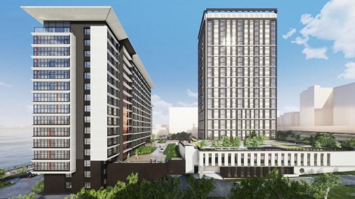 В новом апарт-отеле строят 17-метровую арку с лестницей, с нее можно подняться на смотровую площадку