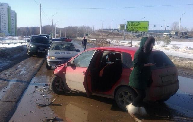 Фото: в Уфе водитель без прав въехал в SKODA Octavia