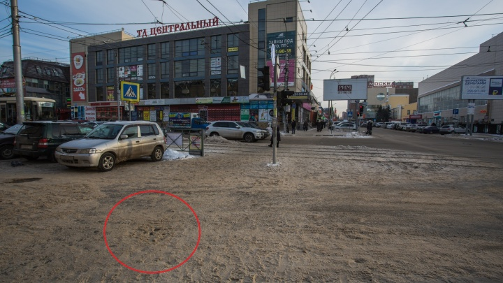 В Новосибирске назвали виновных в появлении огромной ямы возле Центрального рынка