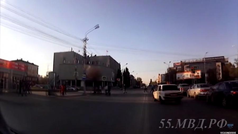 ВОмске наулице Герцена задень произошли 2 полицейские погони