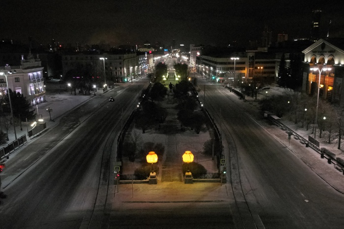 Абажуры Тимофея Ради уже стали традицией для зимнего Екатеринбурга