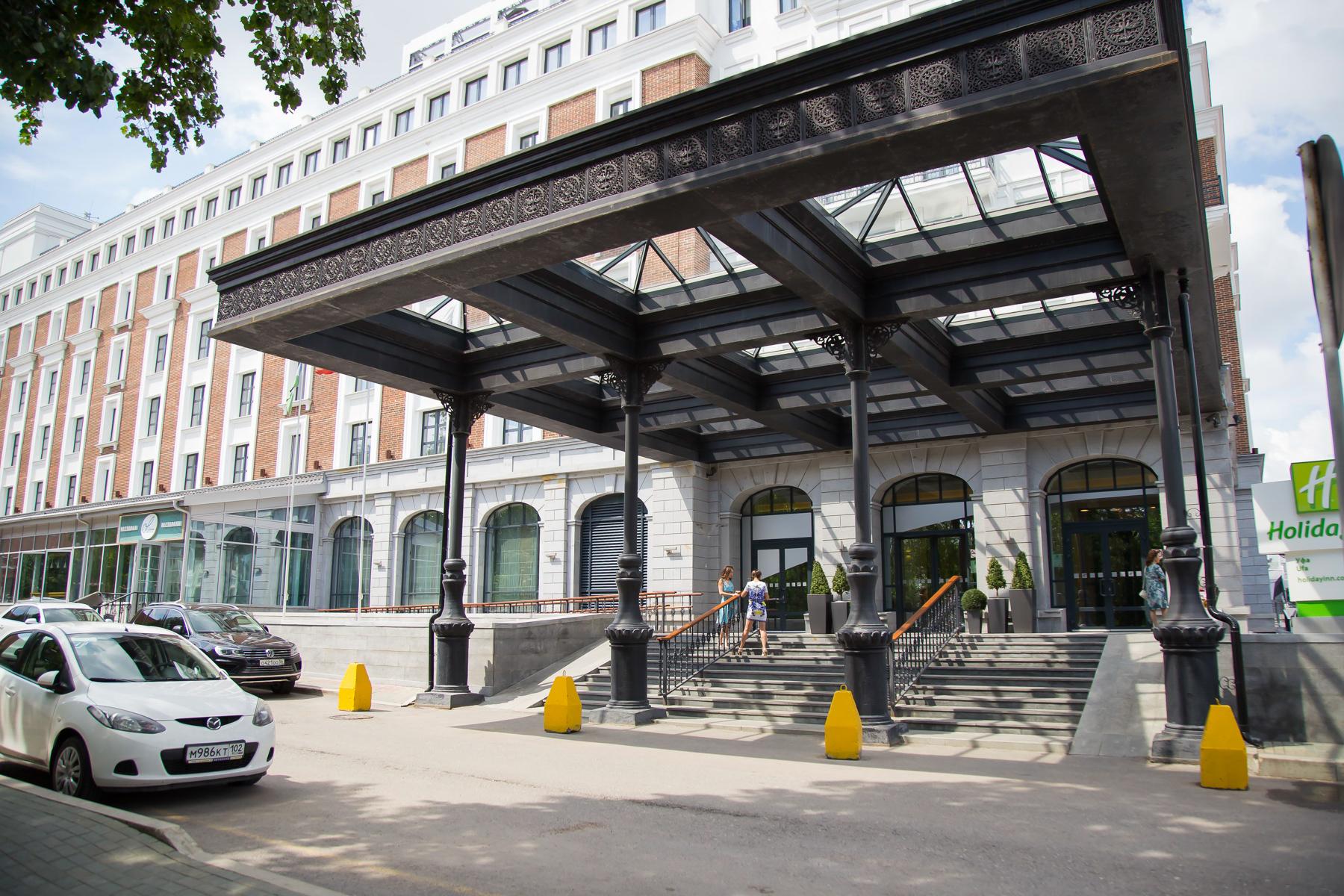 Гостиницу Holiday Inn построили в Уфе рядом со сквером Театральный