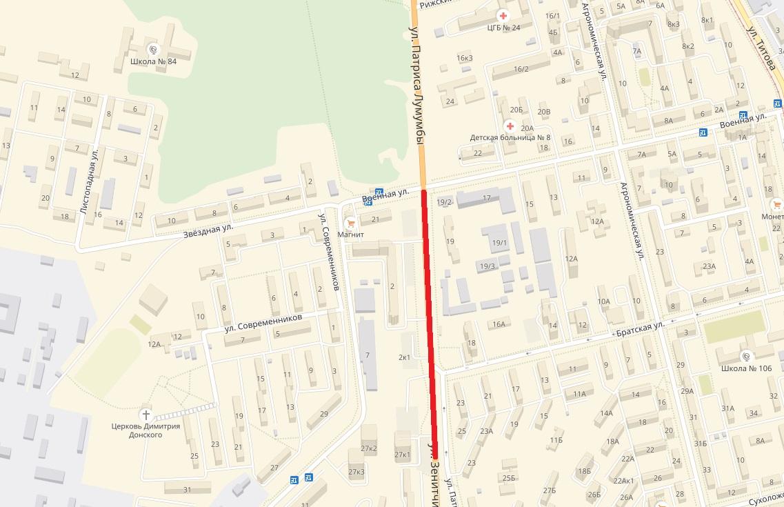 Этот участок улицы будет закрыт на ремонтс 3 апреля по 10 июня