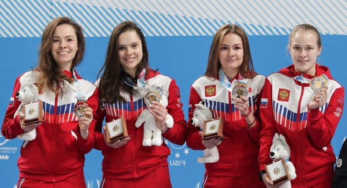 Уральская шорт-трекистка Евгения Захарова завоевала золото Универсиады в составе сборной России