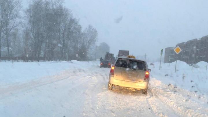 Хозяина нет: дорогу к закрытому посёлку под Новосибирском откопали после новости на НГС