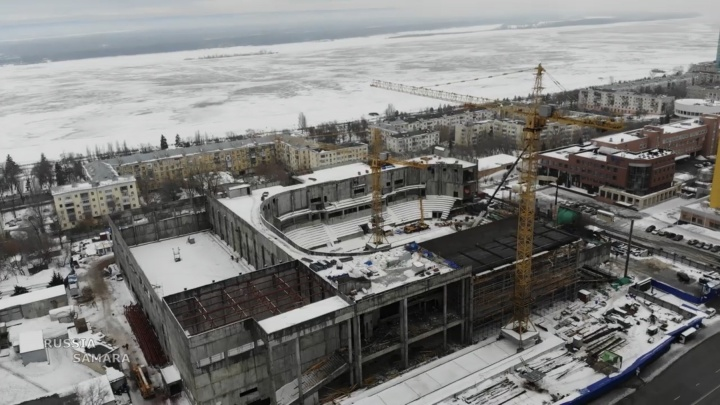 Готов на 30%: в Самаре продолжается строительство Дворца спорта