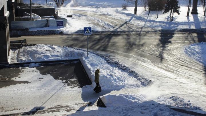 Омских водителей предупредили о гололедице в ближайшие два дня