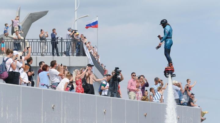 Летающие люди, яхты и отчаянные велосипедисты: как активные волгоградцы отметили День города