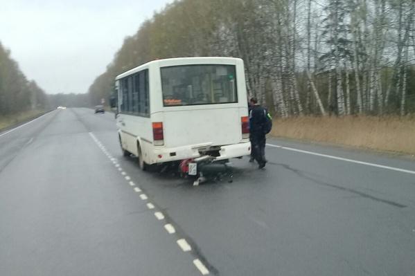 Авария произошла на дороге в Рыбинск