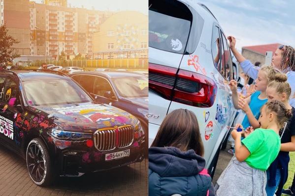 Блогер позволил детям разрисовать элитные авто