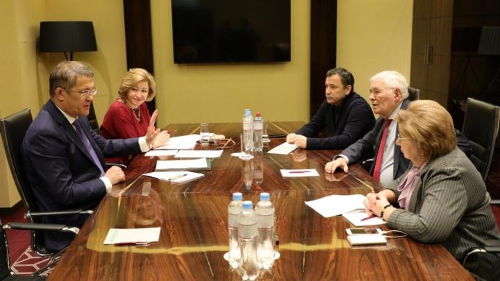 Радий Хабиров встретился с сопредседателем центрального штаба ОНФ Леонидом Рошалем