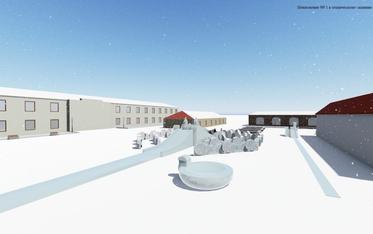 ВОмской крепости построят огромную надпись «Омск» изснега ильда