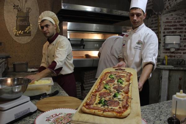 Пицца Pala con salumi весом 1400 г