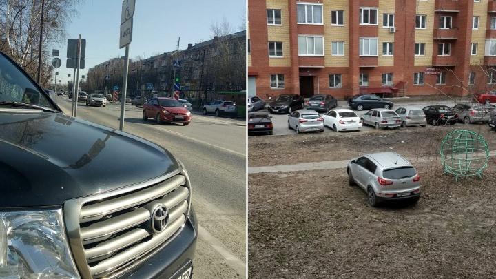 «Я паркуюсь, как...»: «инвалид» на Toyota Land Cruiser на Республики и автохам на детской площадке