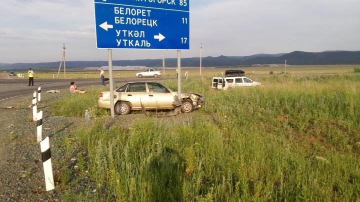 ДТП на горной дороге: в Башкирии столкнулись две легковушки