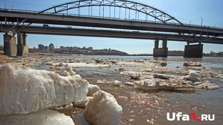 Река Белая в Уфе за сутки поднялась больше, чем на полметра