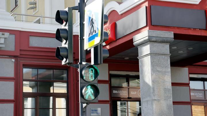 В Омске установят 12 светофоров на «зебрах» возле школ
