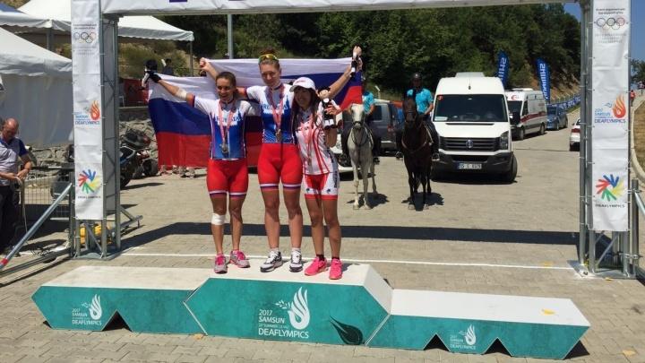 Велогонщица из Верхней Пышмы заняла второе место на Олимпиаде для глухих в Турции