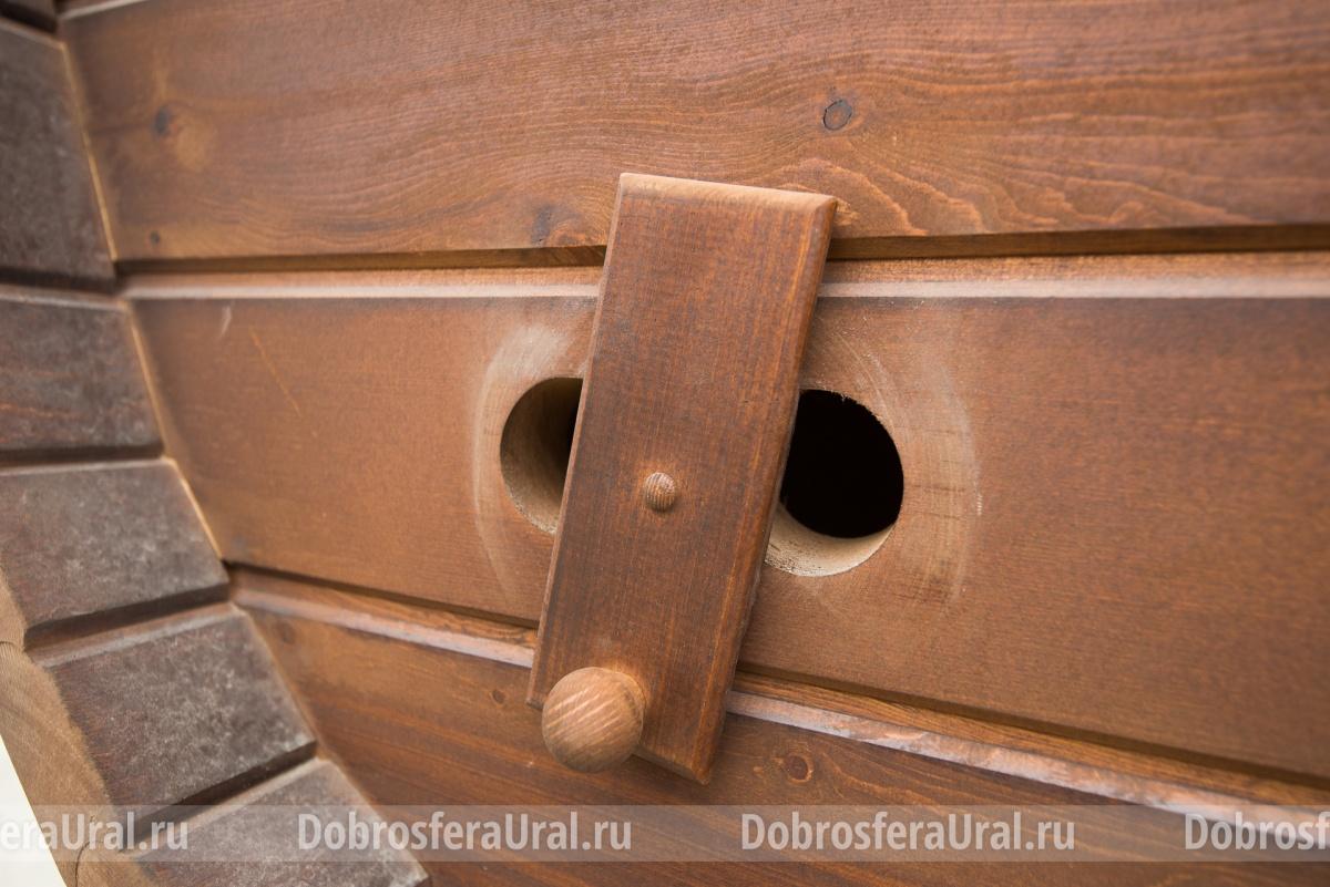 Обязательное вентиляционное отверстие, чтобы баня сохла