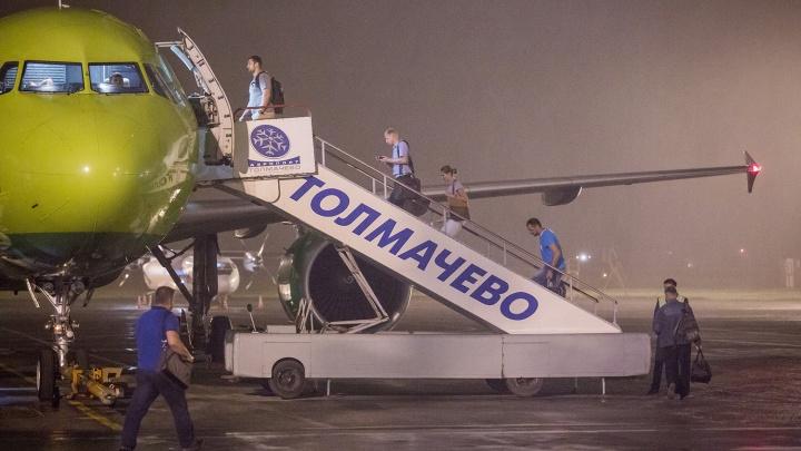 В Новосибирске вынужденно сели два самолёта из Москвы