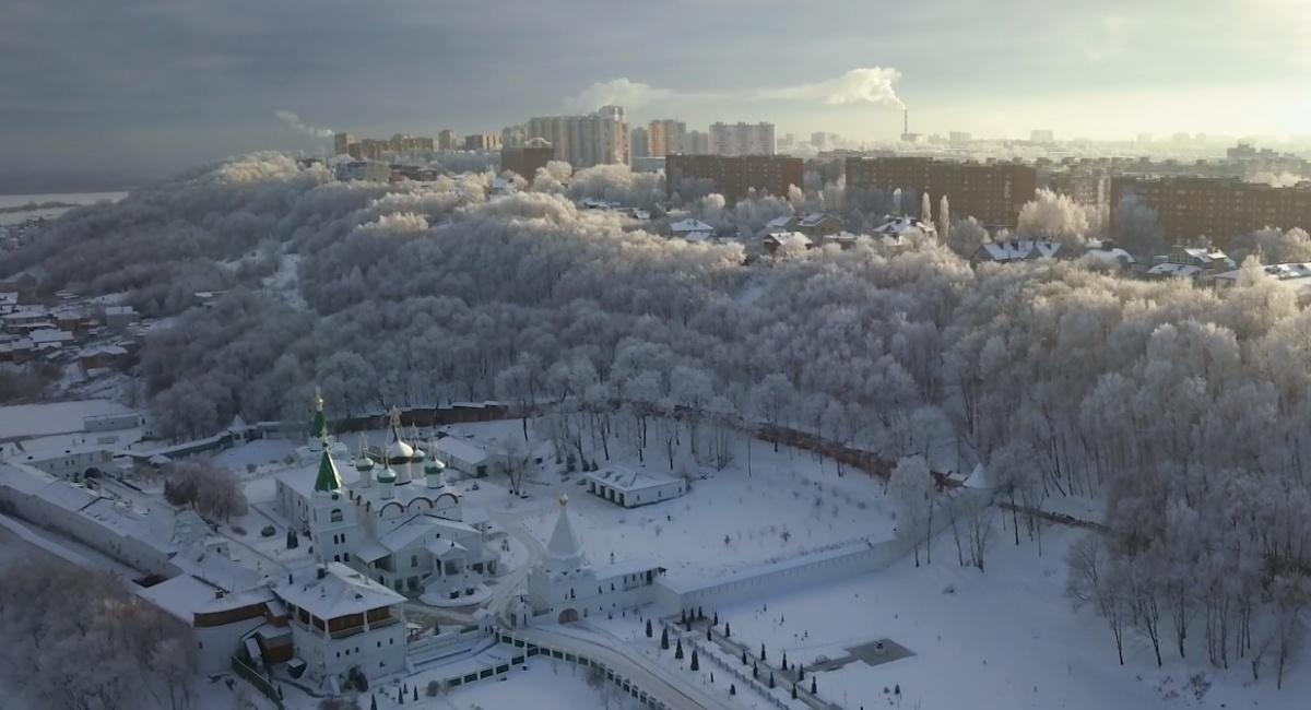 В Нижний Новгород пришла настоящая зима