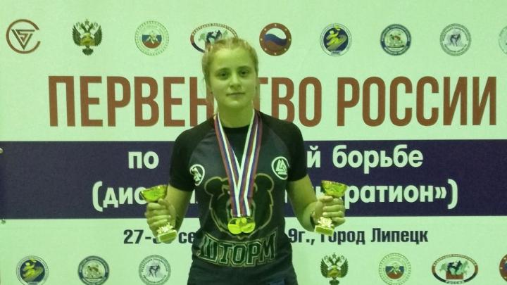 «Это первые серьёзные соревнования»: 16-летняя сибирячка стала чемпионкой России по панкратиону