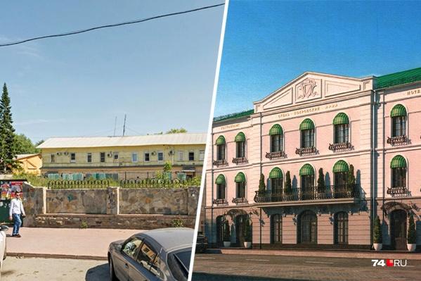Будущую гостиницу стилизуют под старинный особняк