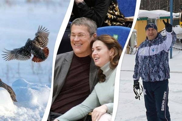 Чиновники проводят время с семьей, природой и лыжней