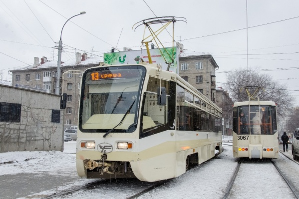 Трамваи этой модели сейчас есть на маршруте №13