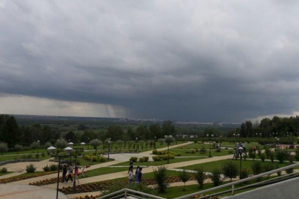 Гроза в Новосибирске