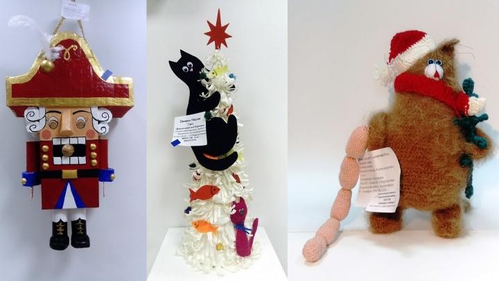 Любуемся изумительными новогодними игрушками, которые красноярцы сделали своими руками