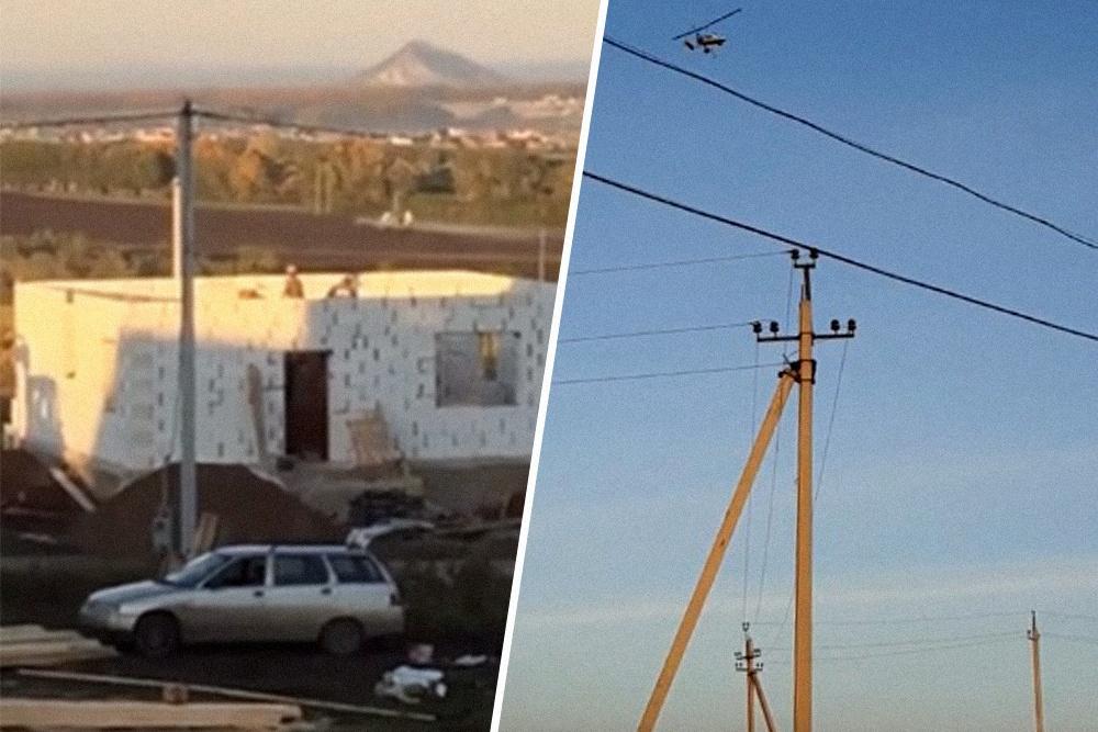 Винтокрылая машина летала в непосредственной близости от жилого квартала