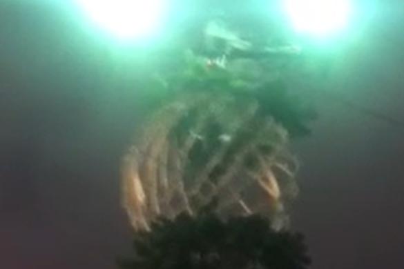 «Горит на работе»: в Ярославле задымился новогодний фонарь. Видео
