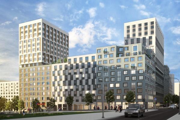 Компания построит три разноэтажных дома-квартала с арками и закрытыми дворами