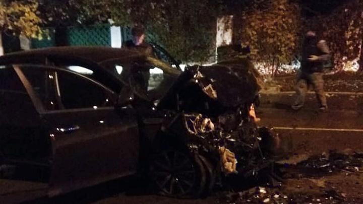 В Башкирии KIA Optima протаранила НЕФАЗ: погиб водитель легковушки
