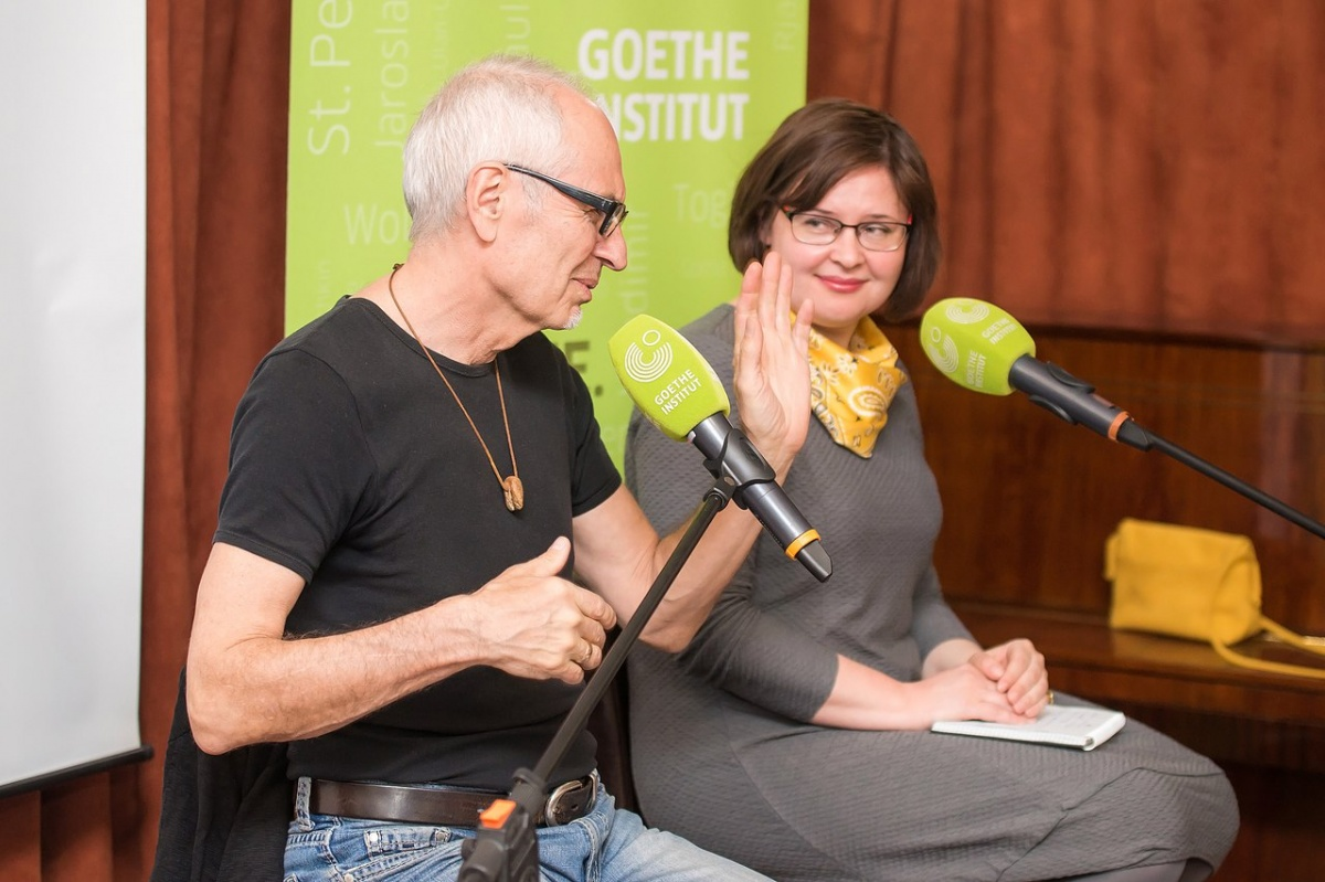 Елена Штерн встретилась с автором книги Ойгеном Руге уже после того, как перевела роман на русский язык